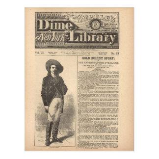 Buffalo Bill - Beadle's Half Dime Library 1879 Postcard