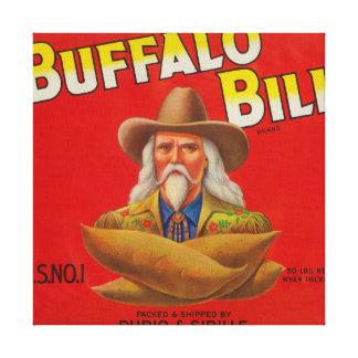Buffalo Bill Brand Yam Crate Label Canvas Print