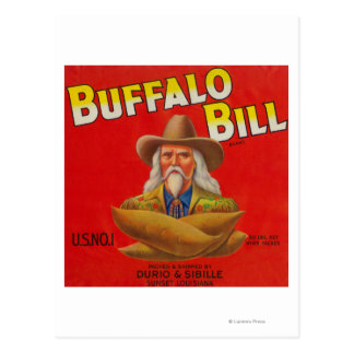 Buffalo Bill Brand Yam Crate Label Post Cards