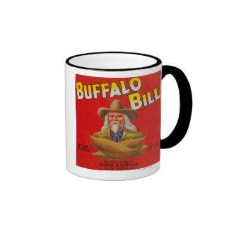 Buffalo Bill Brand Yam Crate Label Ringer Mug