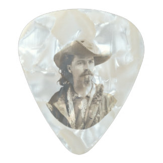 Buffalo Bill Cody 1875 Pearl Celluloid Guitar Pick