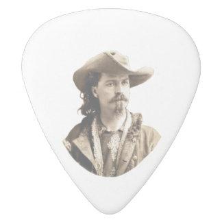 Buffalo Bill Cody 1875 White Delrin Guitar Pick
