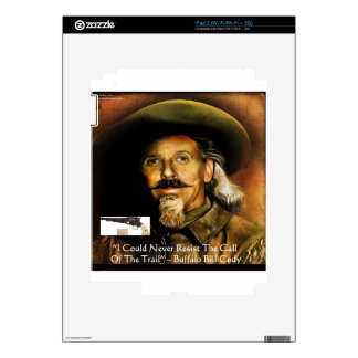 Buffalo Bill Cody His Gun & Quote Gifts & Cards iPad 2 Decals