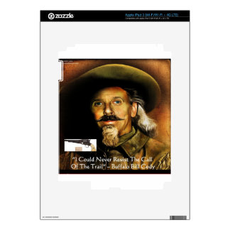 Buffalo Bill Cody His Gun & Quote Gifts & Cards iPad 3 Decals