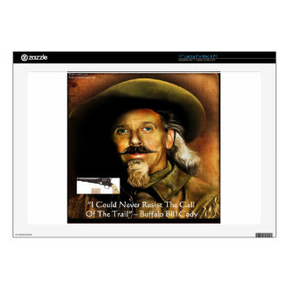 """Buffalo Bill Cody His Gun & Quote Gifts & Cards Skin For 17"""" Laptop"""