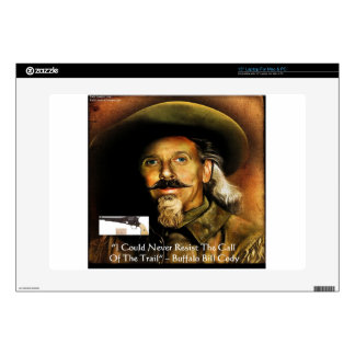 Buffalo Bill Cody His Gun & Quote Gifts & Cards Laptop Decals