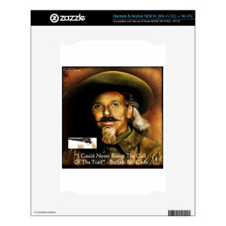 Buffalo Bill Cody His Gun & Quote Gifts & Cards NOOK Skins