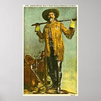 Buffalo Bill Cody - Plainsman y explorador famosos Póster