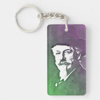 Buffalo Bill Cody Pop Art Portrait Keychain