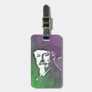 Buffalo Bill Cody Pop Art Portrait Luggage Tag