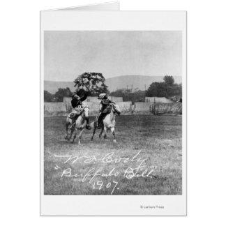 """Buffalo Bill"" Cody Riding Horse Greeting Card"