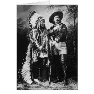 Buffalo Bill Cody & Sitting Bull - Circa 1885 Card