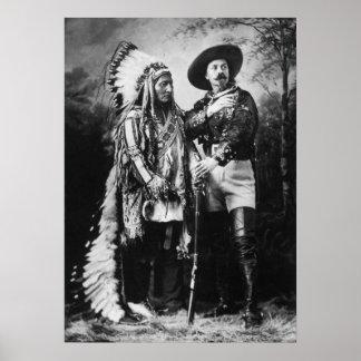 Buffalo Bill Cody y sentada Bull - circa 1885 Poster