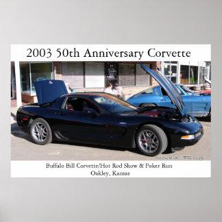 Buffalo Bill Corvette/ Hot Rod Show & Poker Run Poster