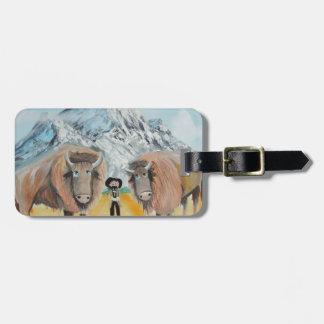 Buffalo Bill illustration wild west Bag Tag