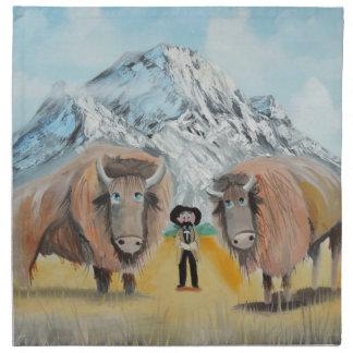 Buffalo Bill illustration wild west Cloth Napkin