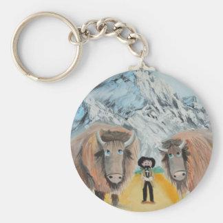 Buffalo Bill illustration wild west Keychain