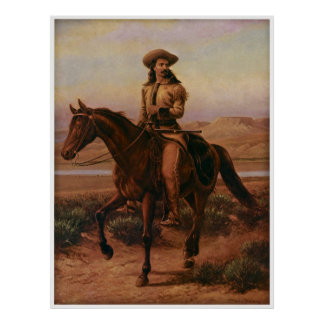 Buffalo Bill on Charlie by Cary circa 1881 Poster