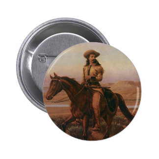 Buffalo Bill Pin Redondo De 2 Pulgadas