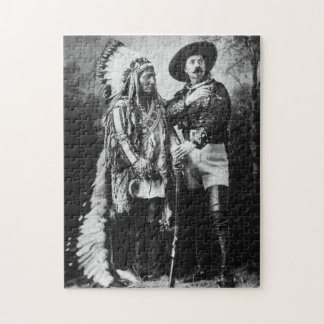Buffalo Bill & Sitting Bull - Circa 1885 Puzzle