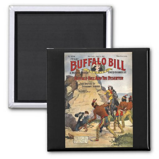 Buffalo Bill Stories 1910 2 Inch Square Magnet