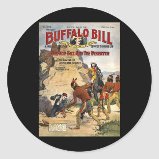 Buffalo Bill Stories 1910 Classic Round Sticker