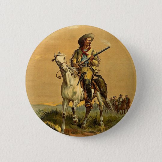 "Buffalo Bill ""The Scout"" Vintage Advertisement Button"
