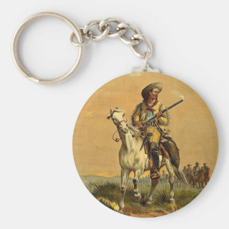 """Buffalo Bill """"The Scout"""" Vintage Advertisement Keychain"""
