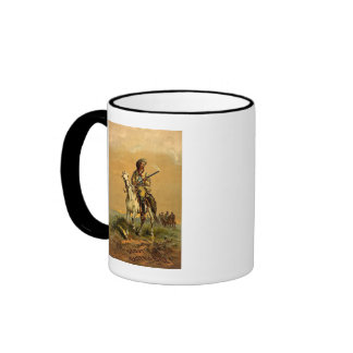 "Buffalo Bill ""The Scout"" Vintage Advertisement Ringer Coffee Mug"