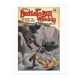 Buffalo Bill Weekly 10 - vintage Postcard