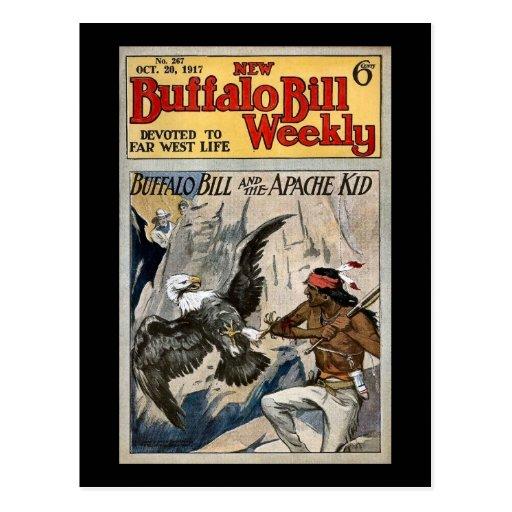 Buffalo Bill Weekly 1917 - The Apache Kid Postcards