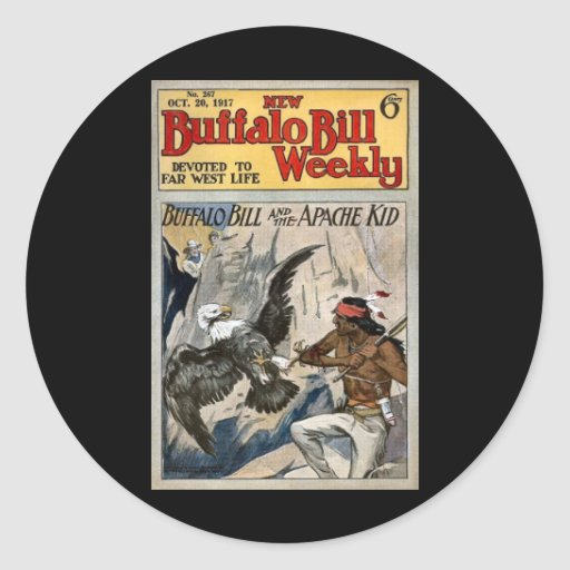 Buffalo Bill Weekly 1917 - The Apache Kid Sticker
