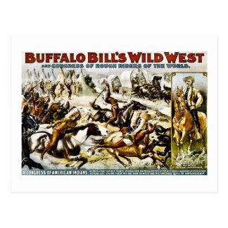 Buffalo Bill Wild West 1899 Postcard