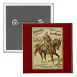Buffalo Bill Wild West Daily Shows 2 Inch Square Button