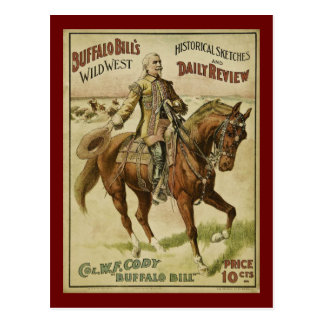 Buffalo Bill Wild West Daily Shows Postcard