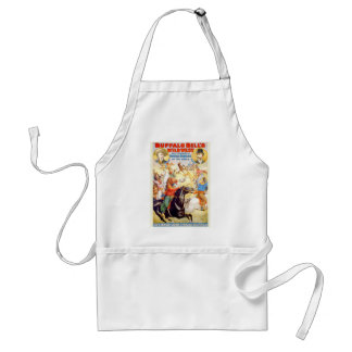 Buffalo Bill Wild West Show Poster Apparel, Gifts Adult Apron