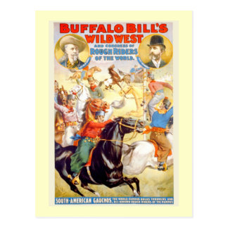 Buffalo Bill Wild West Show Poster Apparel Gifts Postcards