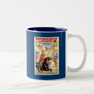 Buffalo Bill Wild West Show Poster Apparel, Gifts Two-Tone Coffee Mug