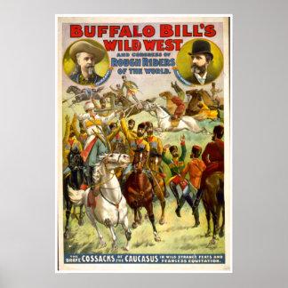Buffalo Bill Wild West VINTAGE POSTER