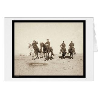 Buffalo Bill y oficiales de ejército SD 1891 Tarjetas