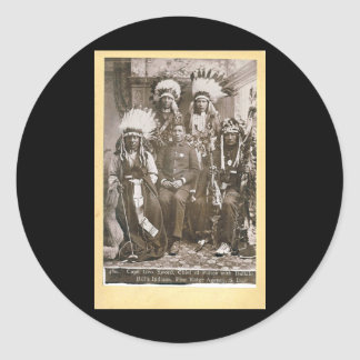 Buffalo Bill's Indians 1890 Classic Round Sticker