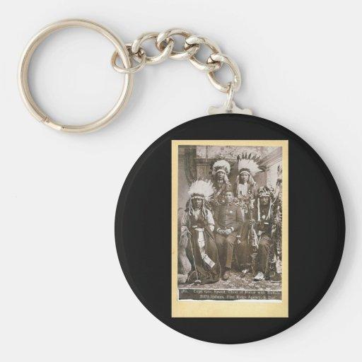 Buffalo Bill's Indians 1890 Basic Round Button Keychain