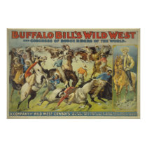 Buffalo Bill's Wild West Cowboys Poster