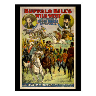 Buffalo Bill's Wild West Cowboys Poster Postcard