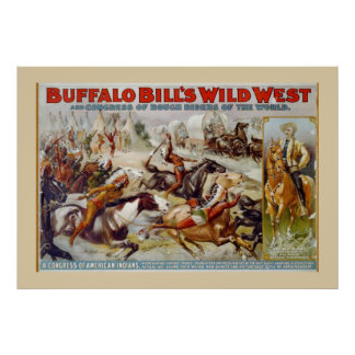 Buffalo Bill's Wild West Indian Poster