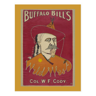 Buffalo Bill's Wild West Poster 1890 Postcard