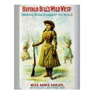 "Buffalo Bill's Wild West Poster Annie Oakley 8.5"" X 11"" Flyer"