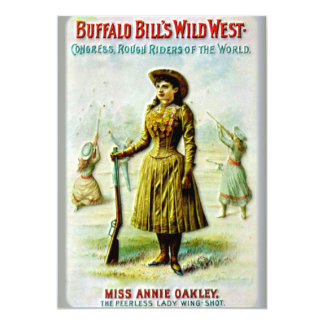 Buffalo Bill's Wild West Poster Annie Oakley Card