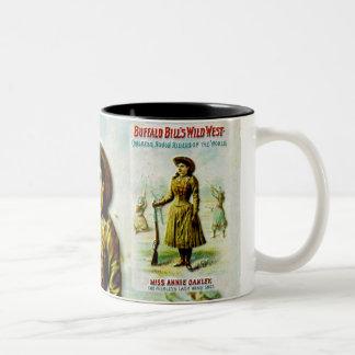 Buffalo Bill's Wild West Poster Annie Oakley Two-Tone Coffee Mug