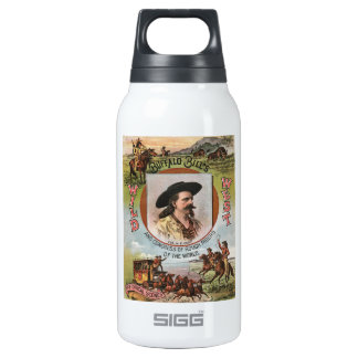 Buffalo Bills Wild West Show 1893 Vintage Ad Insulated Water Bottle